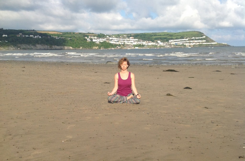yoga on the beach 2